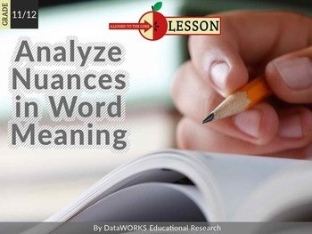 Analyze Nuances in Word Meaning