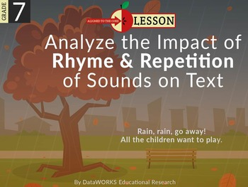 Analyze the Impact of Rhymen and Repetition of Sounds on Text