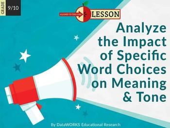 Analyze the Impact of Specific Word Choices on Meaning and Tone