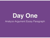 Analyzing Argument Essay Practice Paragraph (with Common C
