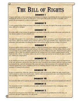 Printables Bill Of Rights Worksheet bill of rights scenarios analysis worksheet by students history worksheet