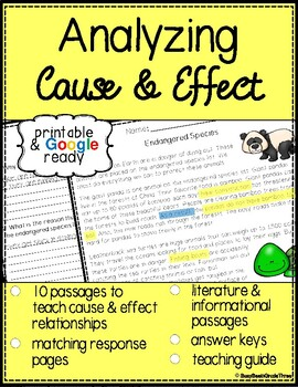 Analyzing Cause and Effect Skill Passages