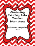 Analyzing Existing Data Teacher Sheet
