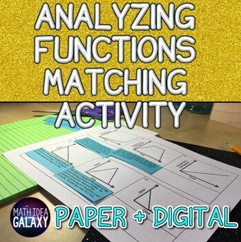 Analyzing Functions Activity- Matching
