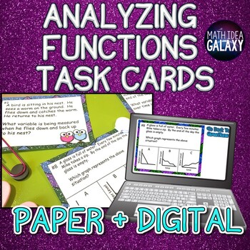 Analyzing Functions Activity (Task Cards)