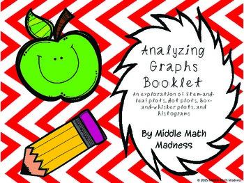 Analyzing Graphs Booklet- Stem & Leaf, Dot Plot, Box & Whi