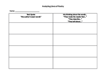 Analyzing Lines of Poetry