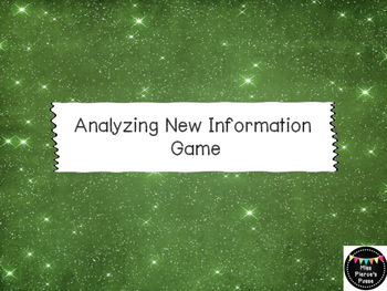 Analyzing New Information Game
