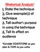Analyzing Nonfiction / Rhetorical Analysis Poster