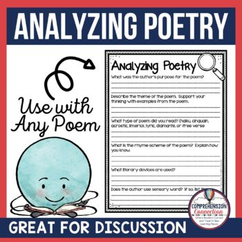 Analyzing Poetry Freebie