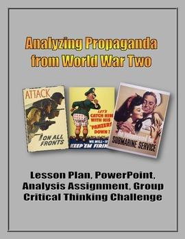 Analyzing Propaganda from World War Two (WW2) - Lesson, Po