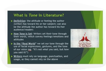 Analyzing Tone & Mood in Literature: Common Core PPT w/Ana