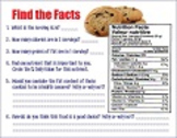Analyzing a Nutrition Label - Worksheet