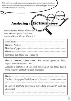 Analyzing a fiction story - fun and quick exercise to anal