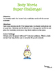 Anatomy Vocabulary Fun Body Words Super Challenge Cut and