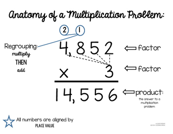 Anatomy of a Multiplication Problem Poster