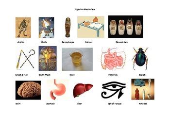 Anceint Egypt - Picture vocabulary list