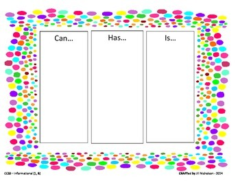 Anchor Chart: Can...Has...Is...