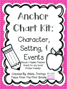 Anchor Chart Kit- Characters, Setting, and Events- Apple a