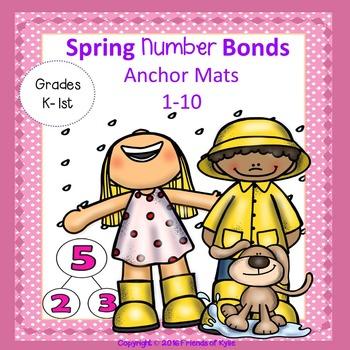 Anchor Chart Spring Number Bonds 1 thru 10