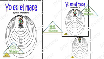 "Anchor Chart "" Yo en el mapa"" (Spanish)"