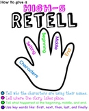 Anchor Chart for Giving A High-5 Retell