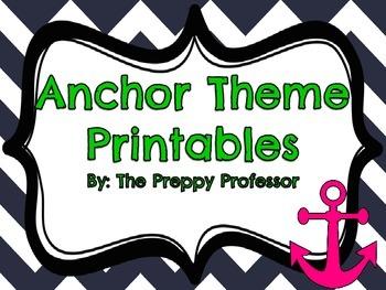 Anchor Classroom Theme