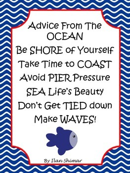 Anchor Nautical theme red, white, and blue quotes class decor