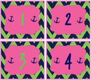 Anchor calendar numbers