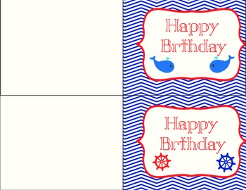 Anchors Away Birthday and Thank You Cards