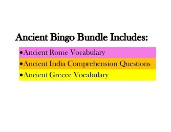 Ancient Bingo Bundle