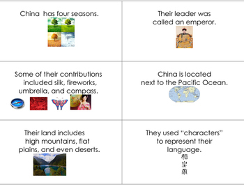 Ancient China Flash Cards (Autism)