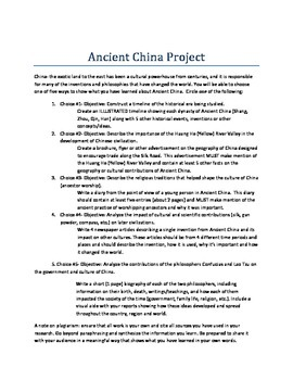 Ancient China Project