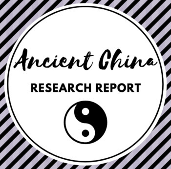 Ancient China Report and Rubric