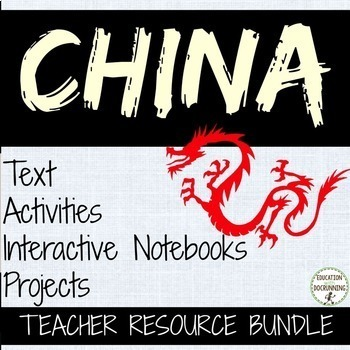 China Activities, Interactive Notebook and Project Teacher Bundle