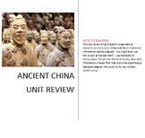 Ancient China Unit Review