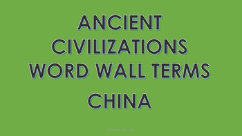 Ancient China Word Wall Cards