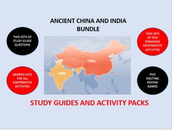 Ancient China and India Bundle: Study Guide/Activity Packs