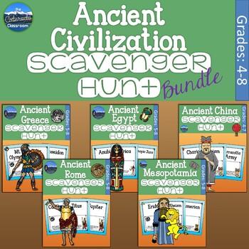 Ancient Civilization Scavenger Hunt Bundle