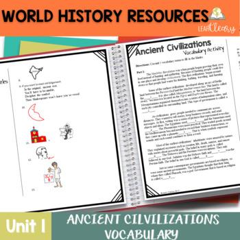Ancient Civilizations Vocabulary Unit