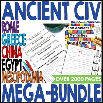 Ancient Civilizations Interactive Notebook Bundle