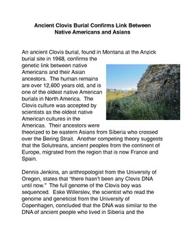Ancient Clovis Burial Confirms Link Between Native America