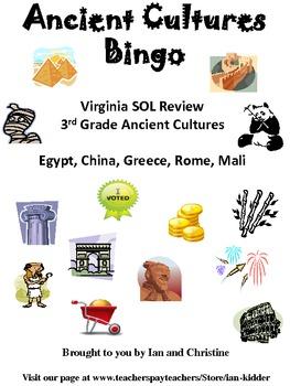 Ancient Cultures Review Bingo Game