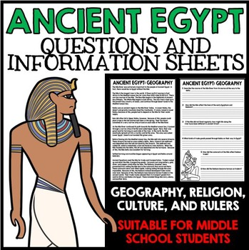 Ancient Egypt Unit - Questions, Information, Projects - Bu