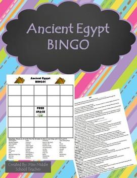 Ancient Egypt BINGO