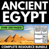 Ancient Egypt Unit Interactive Notebook Graphic Organizers