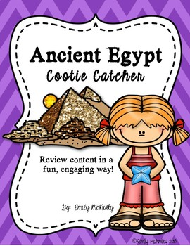 Ancient Egypt Cootie Catcher (Fortune Teller)