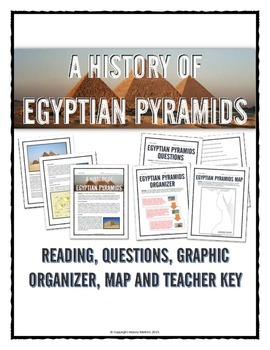 Ancient Egypt - Egypt's Pyramids - Reading, Organizer, Map
