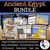 Ancient Egypt Interactive Notebook Graphic Organizers and