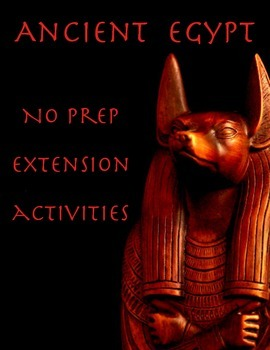 Ancient Egypt: 16 Activities for Fast Finishers (No Prep R